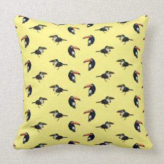 Toucan Frenzy Pillow (Yellow)
