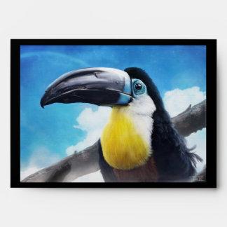 Toucan in Misty Air digital tropical bird painting Envelope