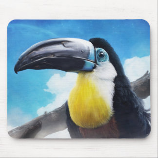 Toucan in Misty Air digital tropical bird painting Mouse Pad