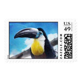 Toucan in misty air stamp