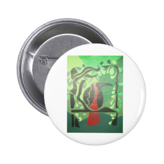 toucan in red & green button