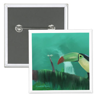 Toucan in the Rainforest Pinback Button