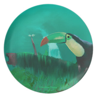 Toucan in the Rainforest Plate