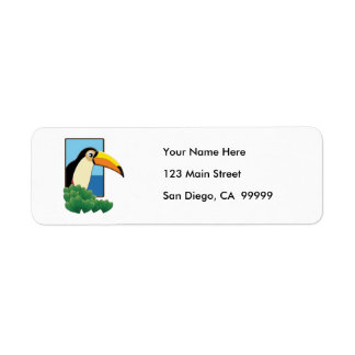 Toucan in the Window Label