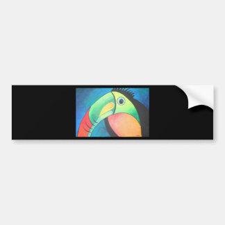 Toucan intrépido pegatina de parachoque