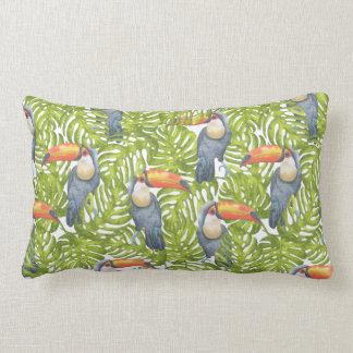 Toucan Jungle Bird Trees Pattern Pillow