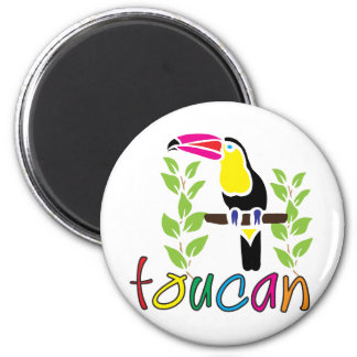 Toucan 2 Inch Round Magnet