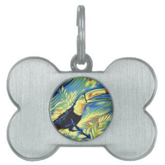 Toucan Placa De Mascota