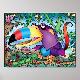 Toucan Paradise Poster print