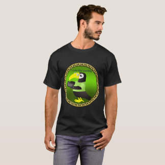 Toucan parrots with computer and gold foil design T-Shirt
