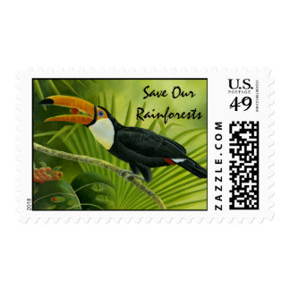 Toucan Postage Stamp
