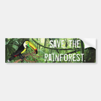 Toucan Save the Rainforest Bumper Sticker