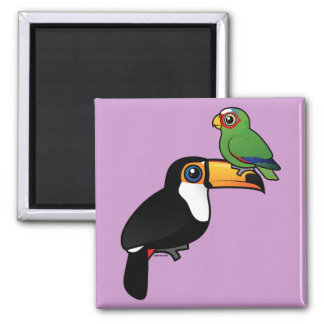 Toucan Tower 2 Inch Square Magnet