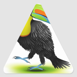 Toucan Triangle Sticker