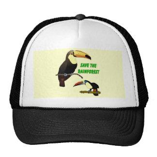 Toucan tropical gorras de camionero