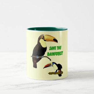 Toucan tropical taza de café