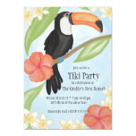 """Toucan Tiki Party Watercolor Housewarming Party Invitation  (Visit shop to see more housewarming  party invitations. Type """"Housewarming Invitations"""" in the search box)"""