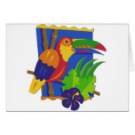 Toucan Window Perch Greeting Cards