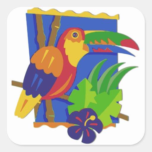 Toucan Window Perch Sticker