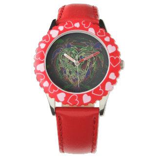 Toucan y palmera reloj de mano