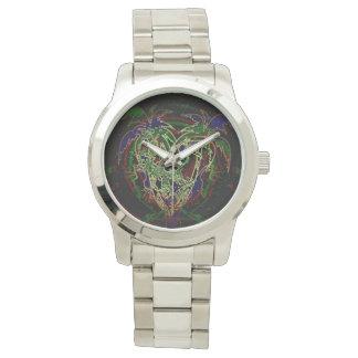 Toucan y palmera relojes