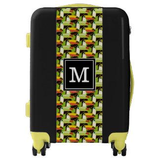 Toucans colorido el   añade su inicial maletas