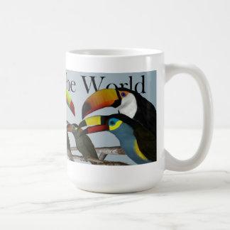 Toucans del mundo taza de café