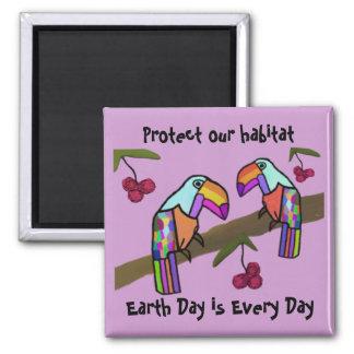 Toucans Habitat Magnet