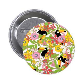 toucans pinback button