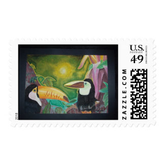 Toucans Postage Stamp