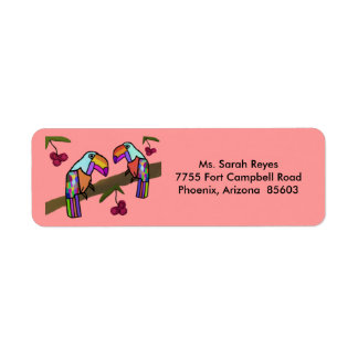 Toucans Return Address Labels