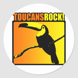 Toucans Rock! Round Stickers