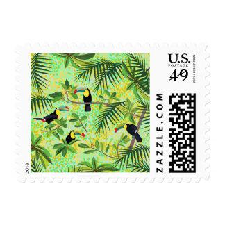 Toucans - sello tropical del bosque