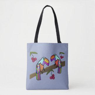 Toucans tropical bolsa de tela