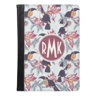 Toucans With Exotic Flowers   Monogram iPad Air Case