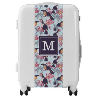 Toucans With Exotic Flowers | Monogram Luggage