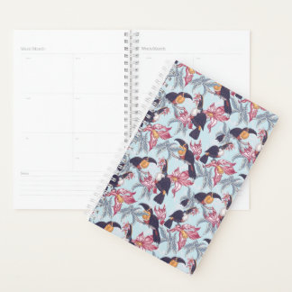 Toucans With Exotic Flowers Planner