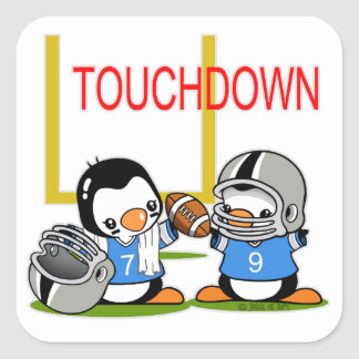 Touch Down Football Square Sticker
