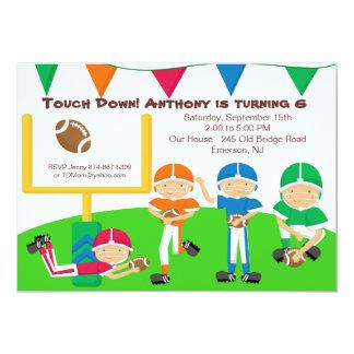 Touch Down! Football Team  Birthday Invitation