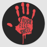 Touch, Feel, Smell Round Sticker