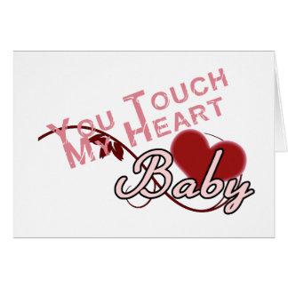 Touch - miss a Shirt Design Greeting Card