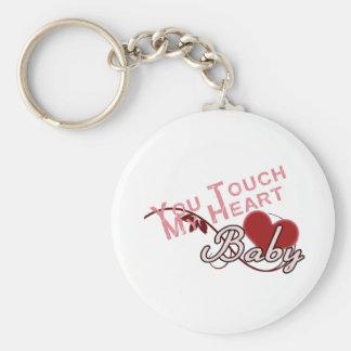 Touch - miss a Shirt Design Basic Round Button Keychain