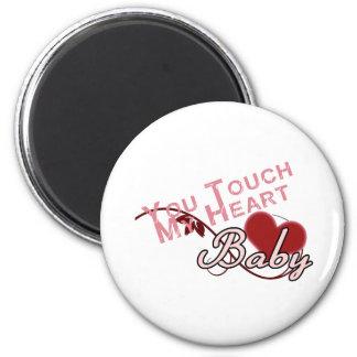 Touch - miss a Shirt Design 2 Inch Round Magnet