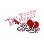 Touch - miss a Shirt Design Post Cards