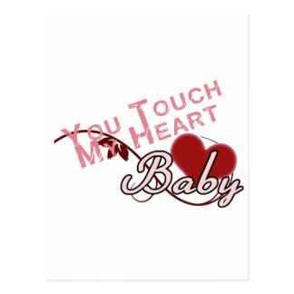 Touch - miss a Shirt Design Postcard