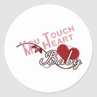 Touch - miss a Shirt Design Classic Round Sticker