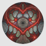 Touch My Heart 2 Round Stickers