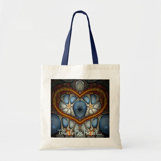 Touch My Heart - Blue Tote Bag