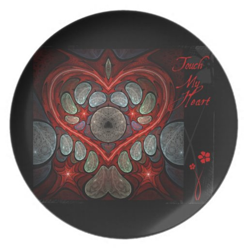 Touch My Heart - Red Melamine Plate