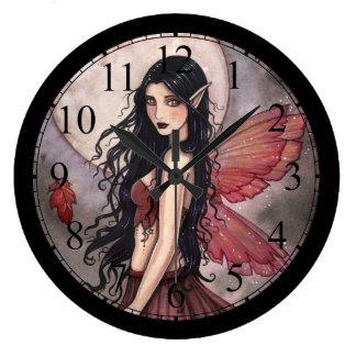 Touch of Autumn Fairy Art Clock